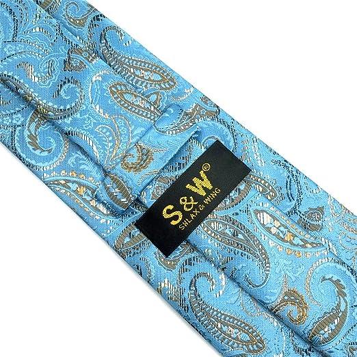shlax wing Cachemir Azul Corbatas Para Hombre Seda Suit Extra Largo   Amazon.es  Ropa y accesorios 9a8b0181809