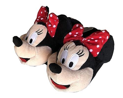 new york 8d08a 8b74c Disney Minnie Pantofole Moppine Minnie Fiocco Pois