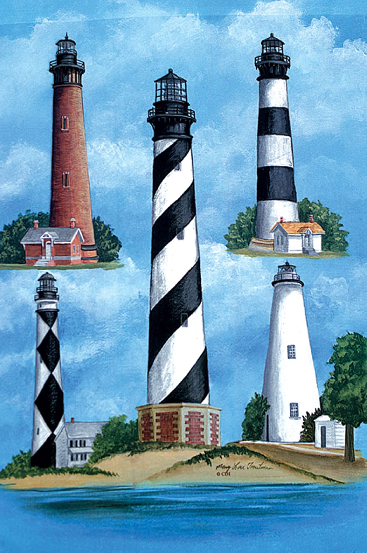 Custom Decor Outer Banks Lighthouse Hatteras Beach Garden Flag