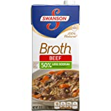 Swanson Low Sodium Broth, Beef, 32 Ounce