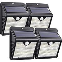 【4 Paquete】Luz Solar Exterior 150 LED, Trswyop Foco Solar Exterior con 120 ° Gran Angular Sensor de Movimiento Lámpara…