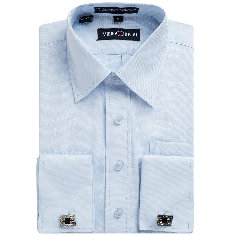 Boys 2-20 French Cuff Dress Shirt Regular & Husky Sizes (Cufflinks Included)