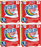 DECOLOR STOP Set de 12 Lingettes Anti-décoloration - Lot de 4