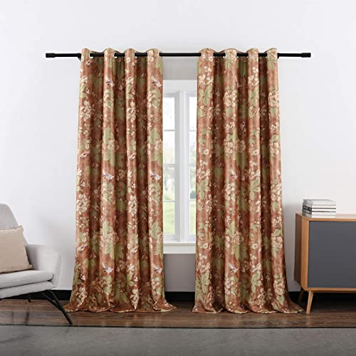 Reviewed: VOGOL Floral Blossoming Blackout Curtains Room Darkening Curtains Window Panel Drapes