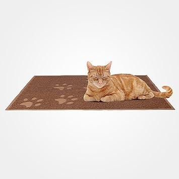 Domaier - Tapete Impermeable para Animales, Alfombra Para Arena de Gatos, 90 x 60