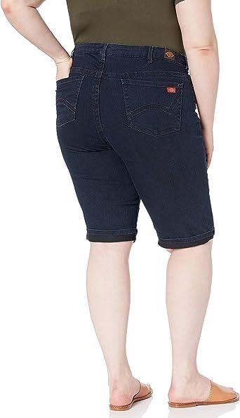 Dickies Womens Size Slim Fit 13 Denim 5-Pocket Cargo Short-Plus