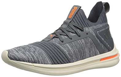 e284cda69d2617 PUMA Men s Ignite Limitless SR Evoknit Sneaker Iron gate-Shocking Orange 7  ...