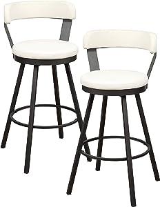 Homelegance Appert Swivel Pub Height Chair (Set of 2), 30