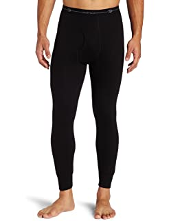 Duofold KMC2 Mens Mid Weight Varitherm Thermal Pant Large1 Black+1 Smoked Pearl