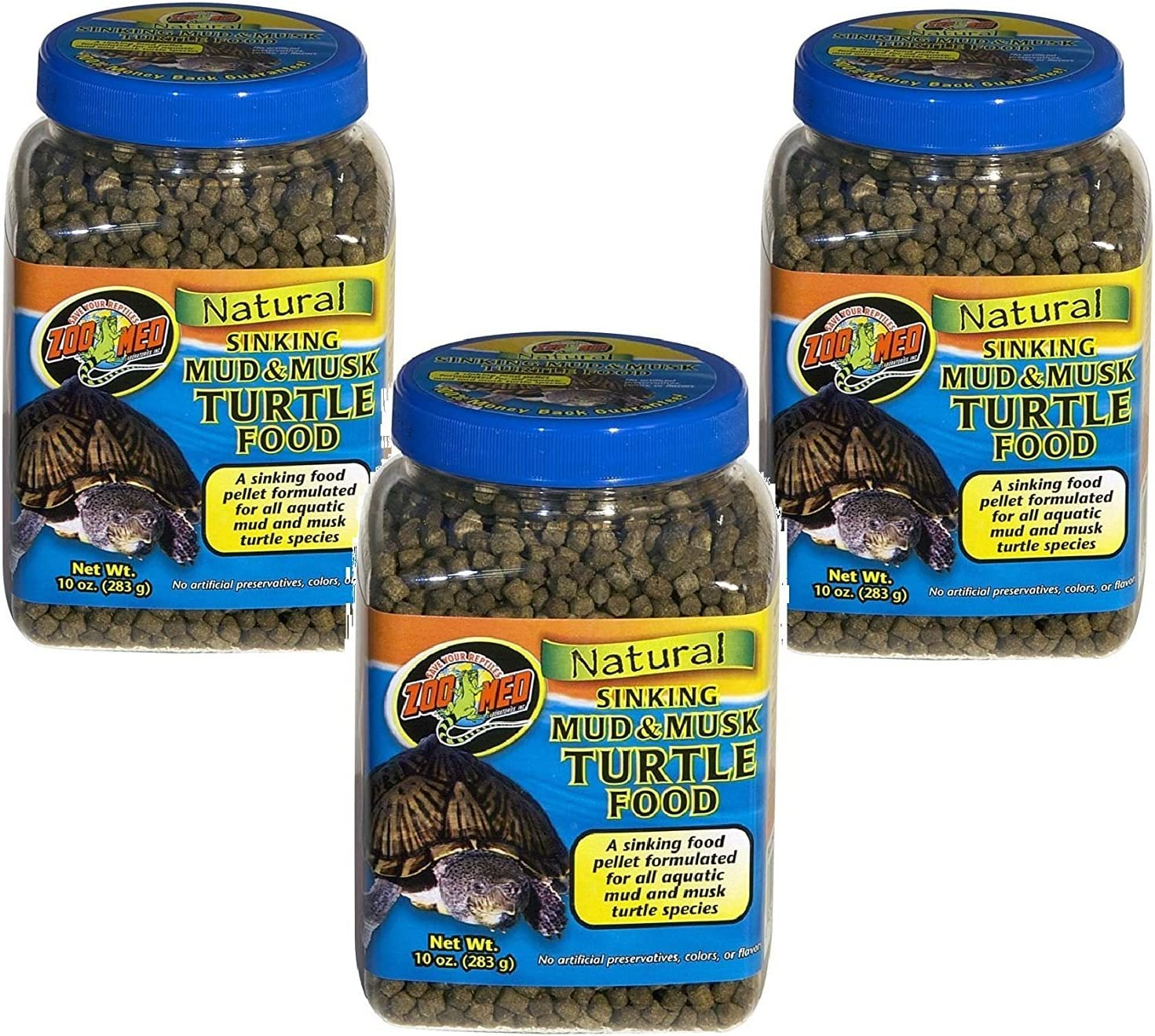 Zoo Med Laboratories Zoomed Mud & Musk Sinking Aquatic Turtle Food, 1 Count, One Size