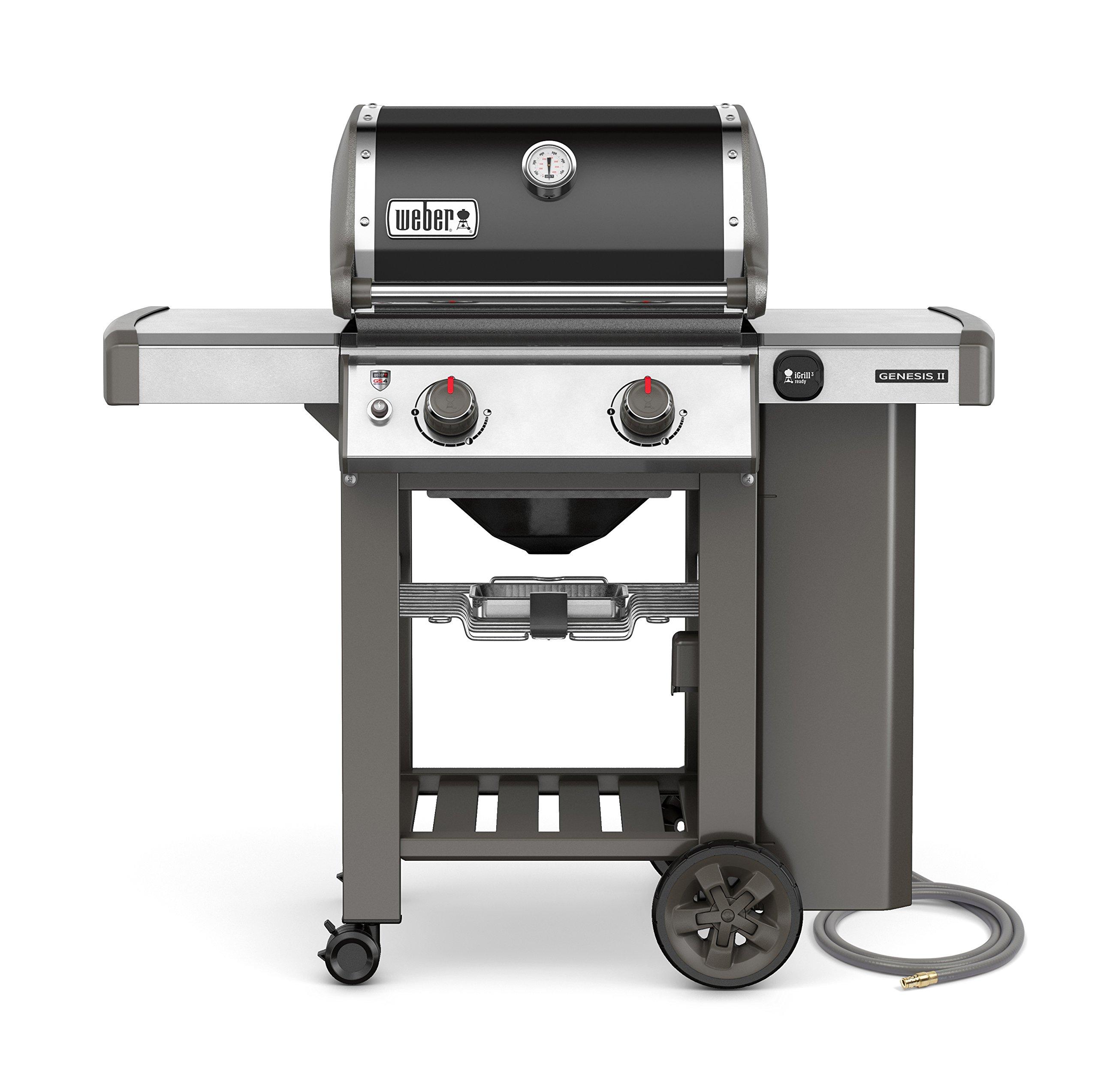 Weber 65010001 Genesis II E-210 Natural Gas Grill, Black, Two-Burner,