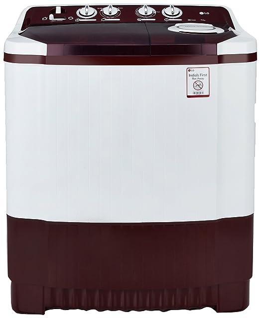LG 7.0 kg Semi Automatic Top Loading Washing Machine  P8053R3SA, Burgundy  Washing Machines   Dryers