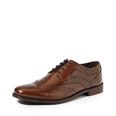Symbol Amazon Brand Men's Brogue Leather Formal Shoes- 10 UK/India (44 EU