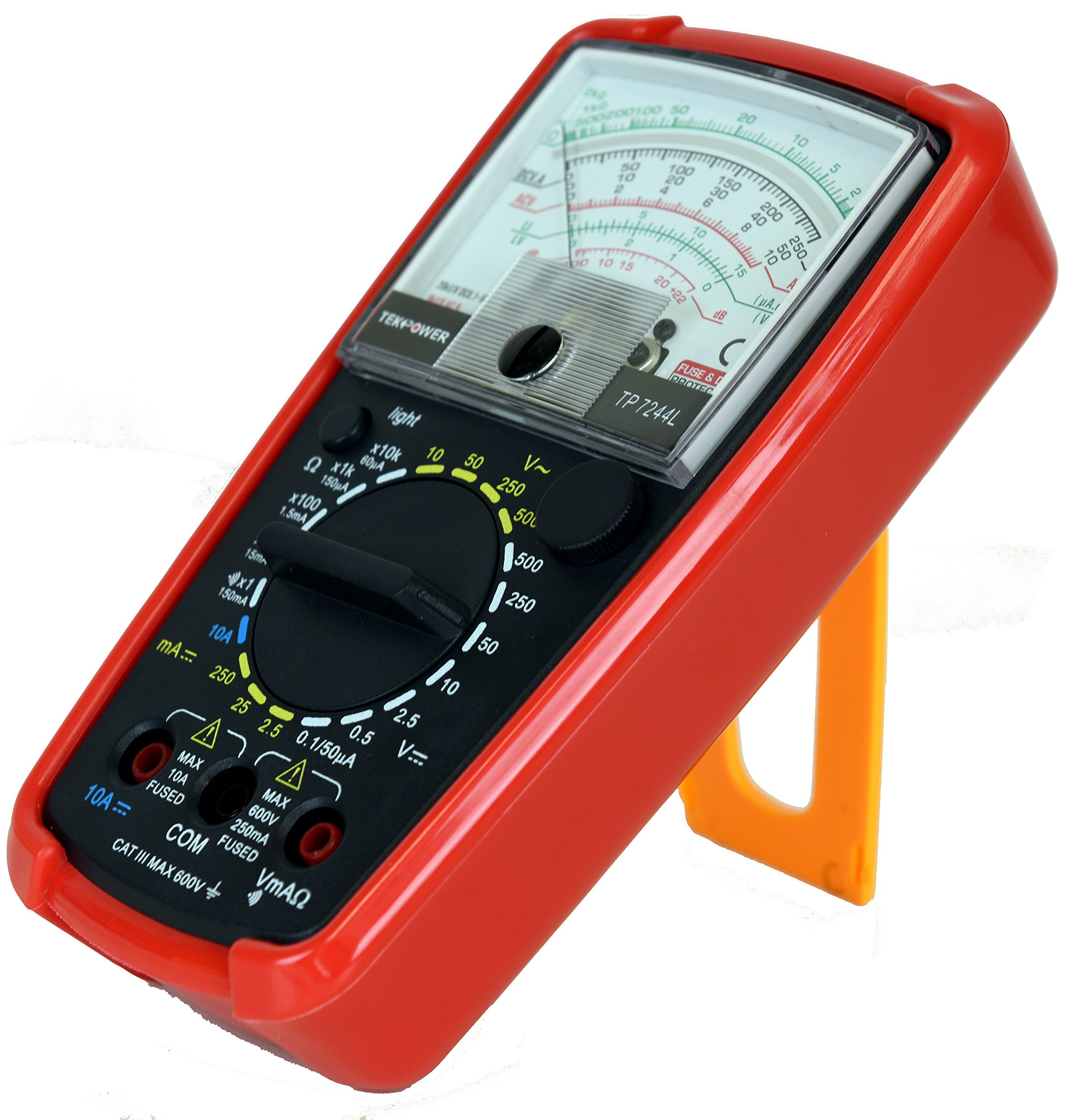 Tekpower TP7244L 7-Function 20-Range Analog Multimeter With Back Light with Strong Protective Holster by Tekpower (Image #5)