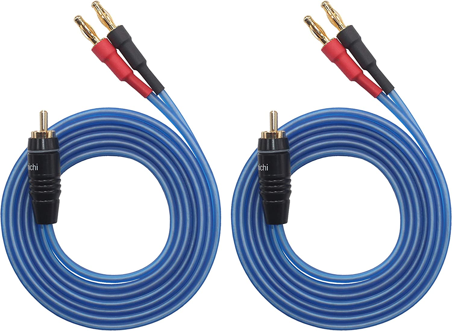 4banana to 2 Pair Banana Q-P2 White /& Red 4.92ft Plugs 1.5M KK Cable Q-P2 18 GAUGE OFC Speaker Wire Pair with RCA Male