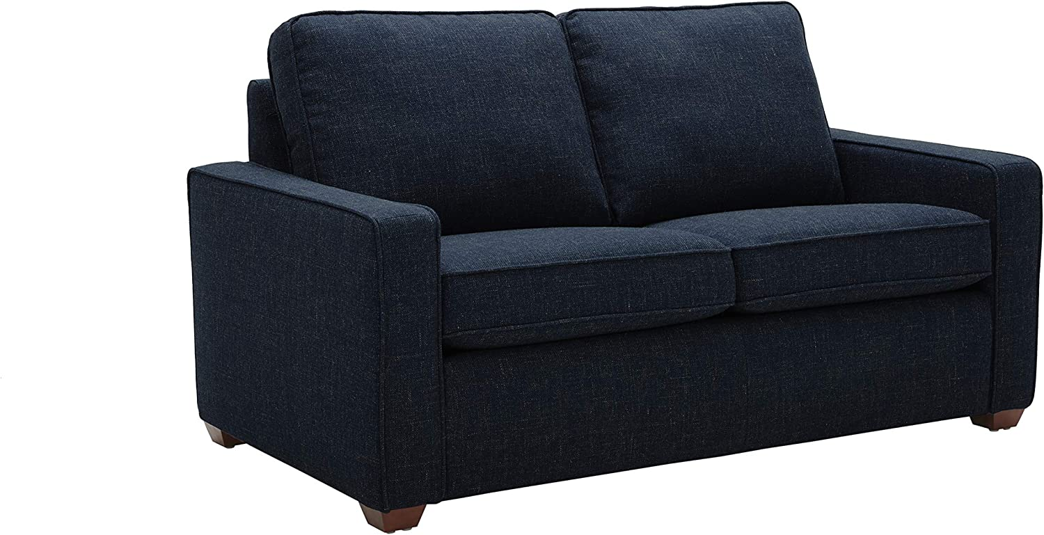 """Amazon Brand – Rivet Andrews Contemporary Loveseat Sofa with Removable Cushions, 67""""W, Wathet Blue"""