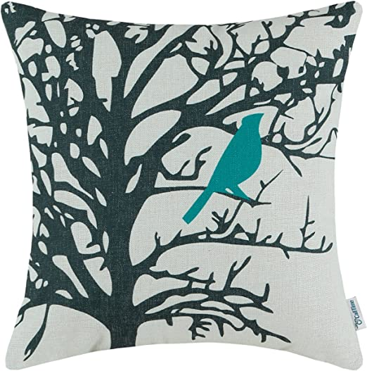 New All Smiles Teal Throw Pillow Covers Case Decorative Turquoise Cushion Pil..