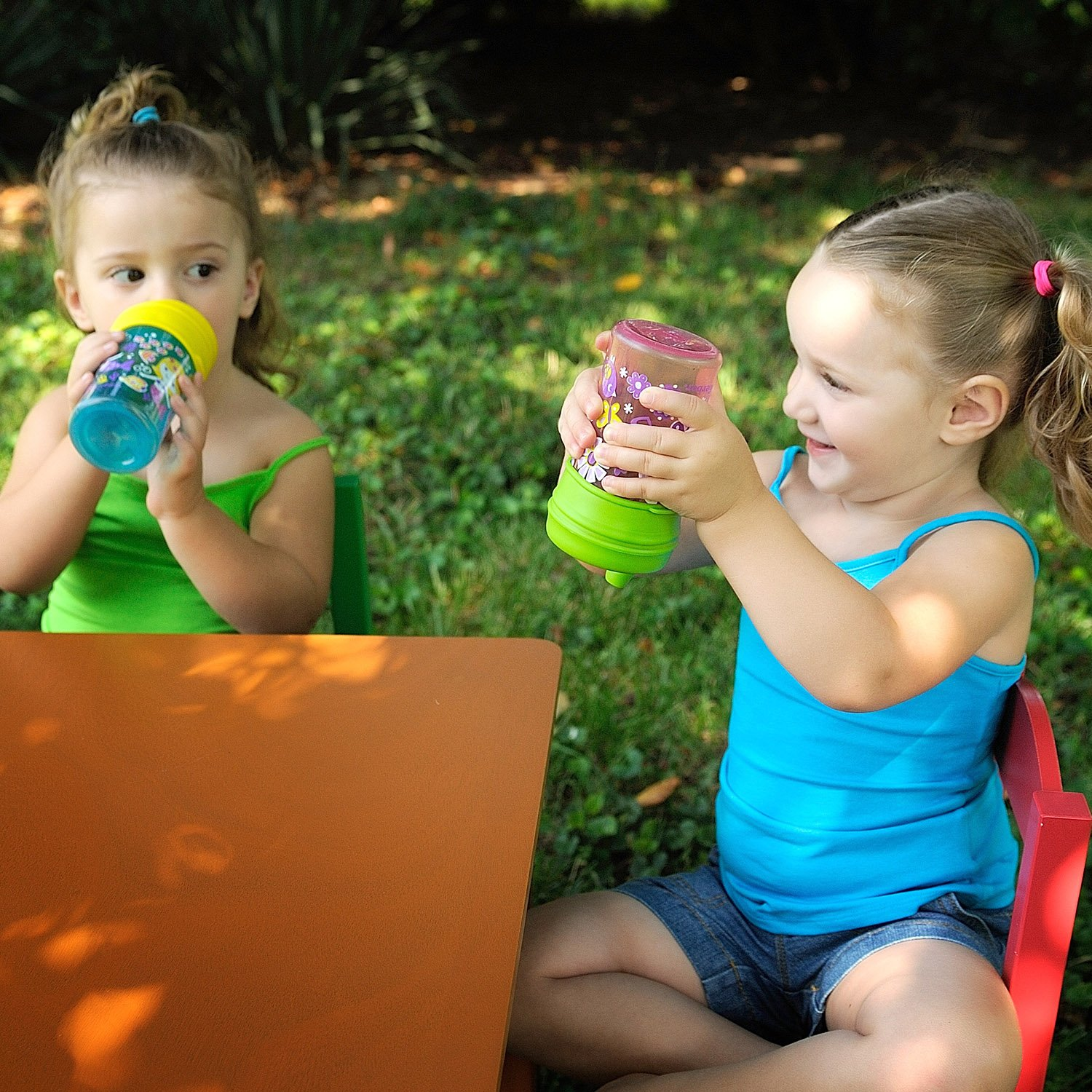Healthy Sprouts Silicone Sippy Lids (5 Pack) - Lab Tested, Spill Proof, BPA Free, Universal Soft Spout Stretch Tops | Make Any Cup a Sippy Cup for Toddler, Baby, Infant (Red Yellow Blue) by Healthy Sprouts (Image #9)