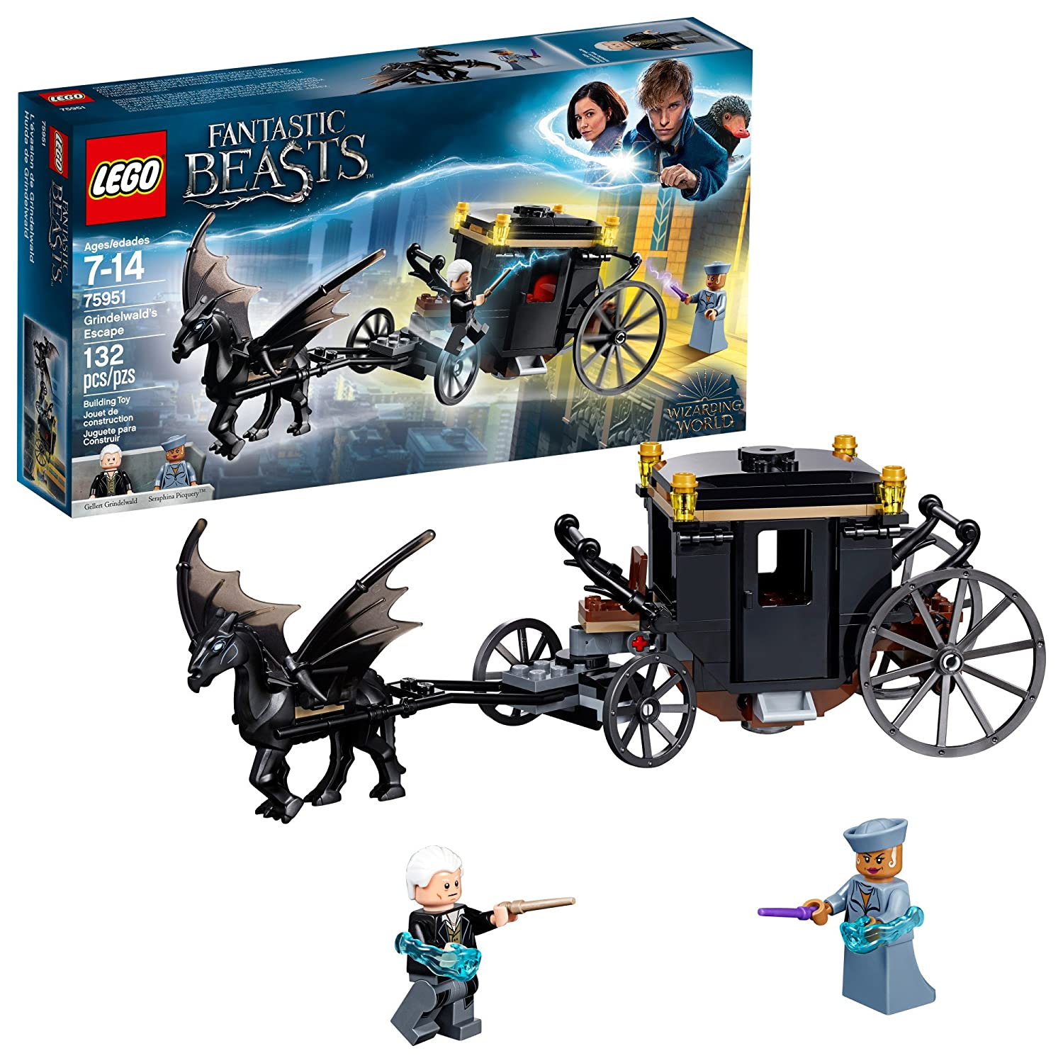 Lego Fantastic Beasts: The Crimes of Grindelwald -Grindelwald's Escape 75951 Building Kit (132 Piece) 6212637