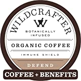 Wildcrafter Botanicals Organic Coffee K Cups - Herbal Immune Booster Infused with Elderberry, Astragalus Root & Reishi…
