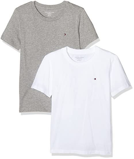 superior quality super specials authentic quality Amazon.com: Tommy Hilfiger 2-Pack Icon Cotton Crew-Neck Boys ...