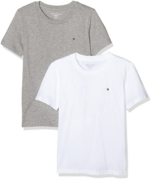 eb19cbc04902 Tommy Hilfiger Boy s T-Shirt Pack of 2  Amazon.co.uk  Clothing