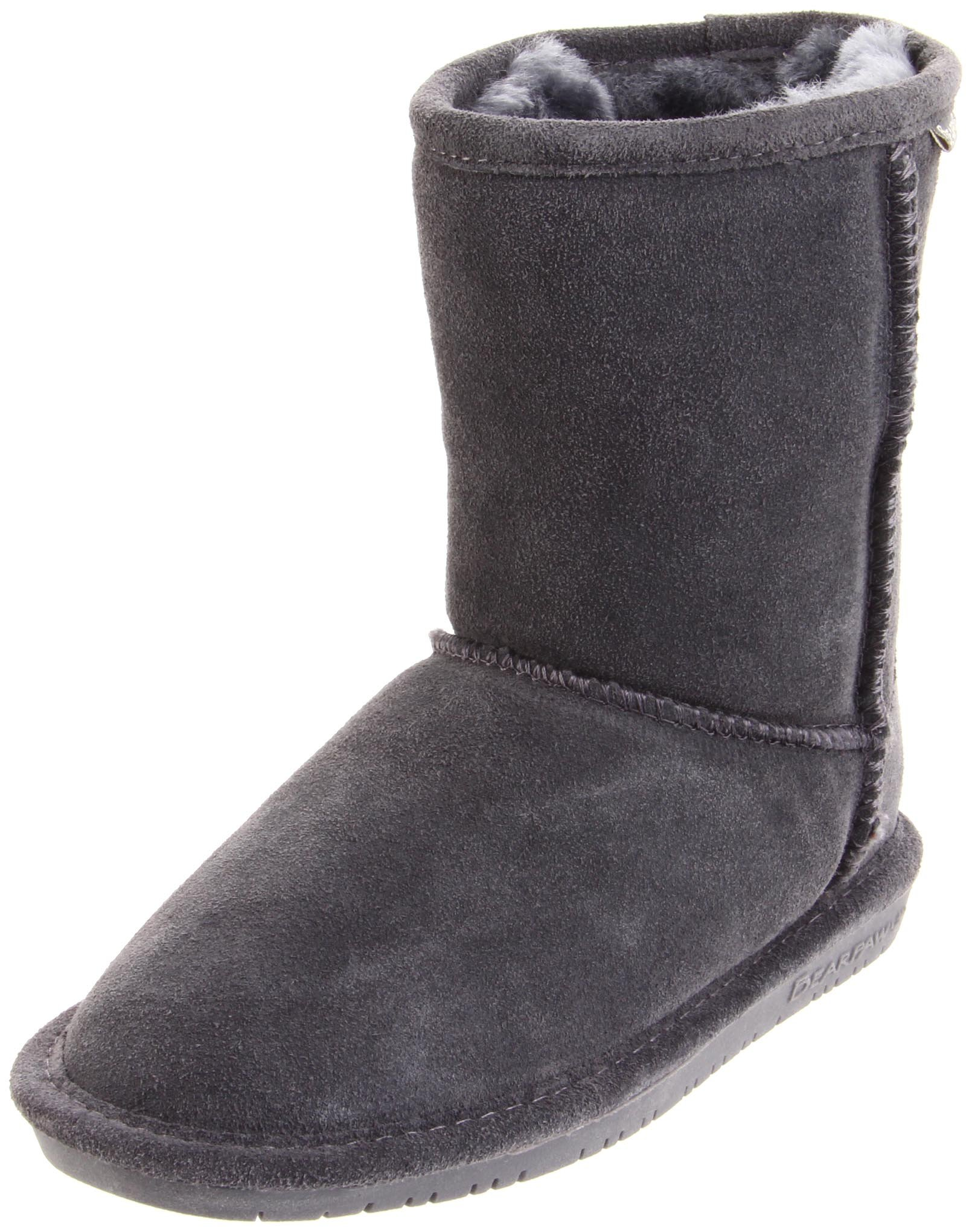 BEARPAW Emma 608T Shearling Boot (Toddler),Charcoal,8 M US Toddler