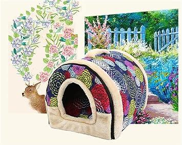 Kingnew Casa y sofá para Mascotas, 2 en 1, Muy Cálido, Acolchado,