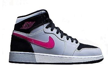 outlet store bc66d b9a34 Nike Herren Air Jordan 1 Retro High GG Black Sneakers- 332148 010-Rosa (