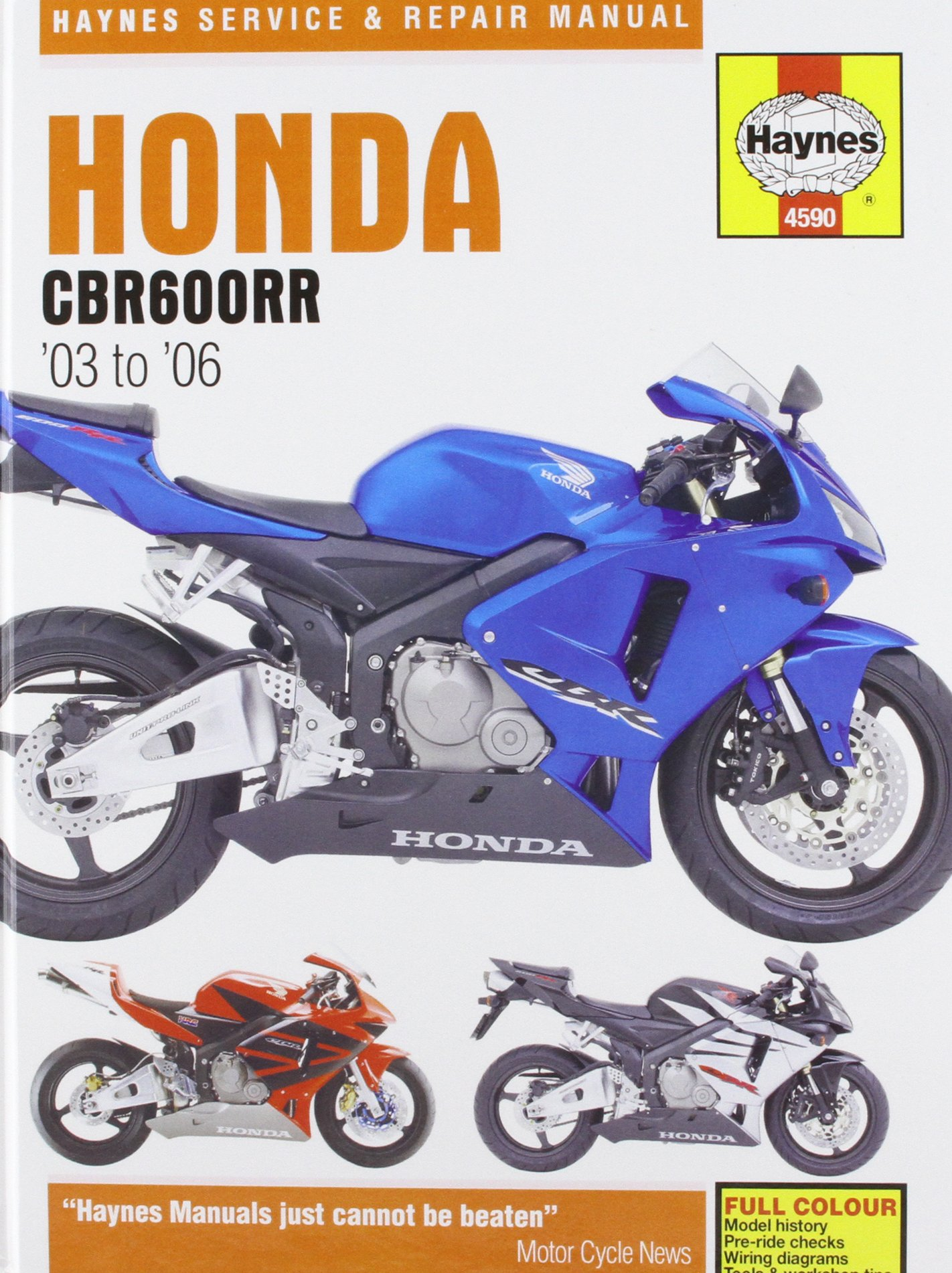 81q4UNQLdGL honda cbr600rr service and repair manual 2003 to 2006 (haynes wiring schematic diagram for a 2006 cbr600rr at edmiracle.co