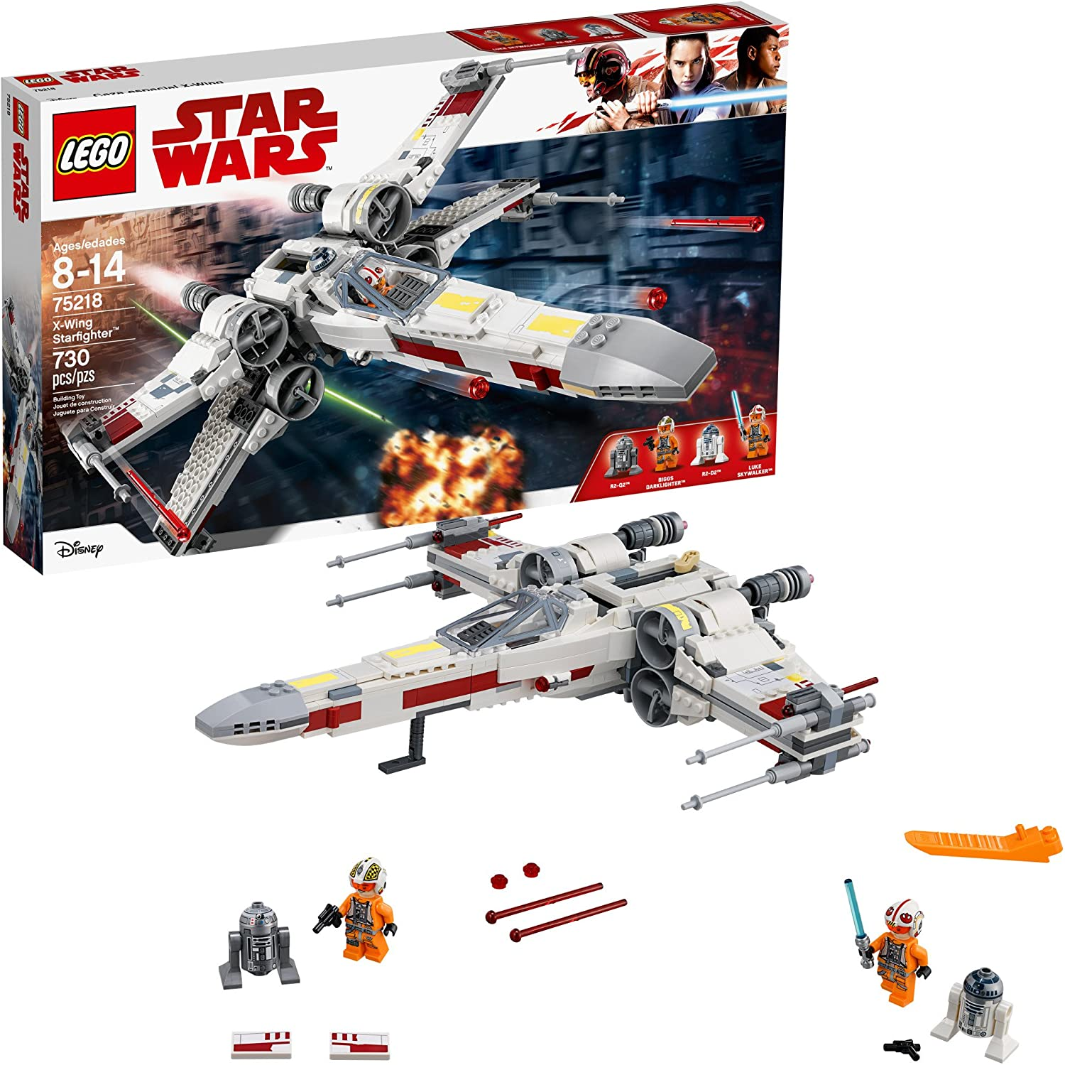 Discontinued by Manufacturer 731 Pieces LEGO Star Wars X-Wing Starfighter 75218 Star Wars Building Kit