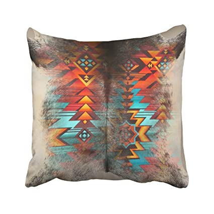 Delicieux Musesh Distressed Cowhide And Western Print Design Cushions Case Throw  Pillow Cover For Sofa Home Decorative