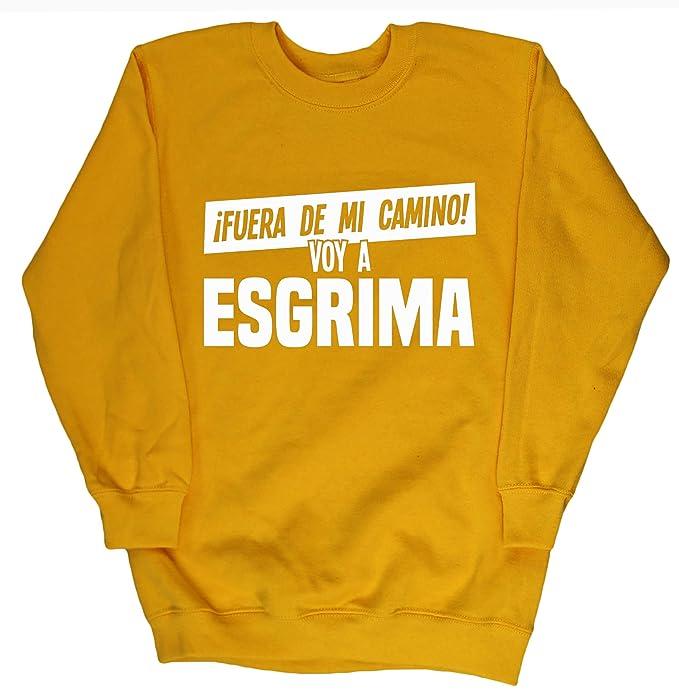 VOY A ESGRIMA jersey sudadera suéter derportiva unisex niños niñas: Amazon.es: Ropa y accesorios