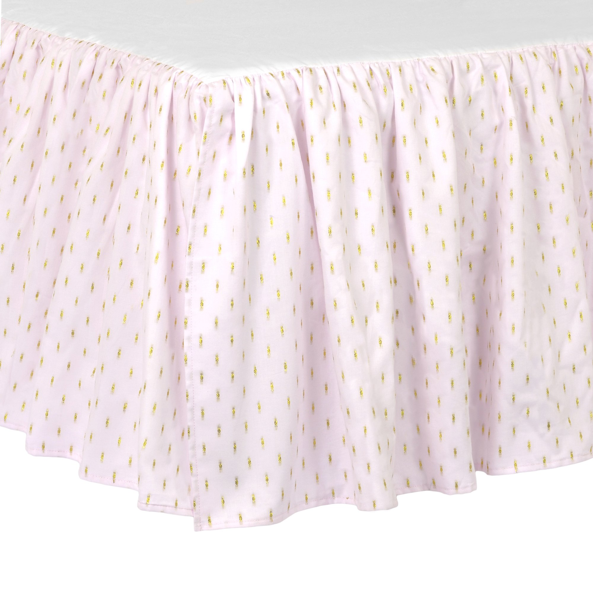 Just Born Sparkle Crib Skirt, Pink by Just Born