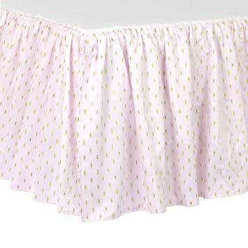 Amazon Just Born Sparkle Crib Skirt Pink Baby Enchanting Crib Skirt Pattern