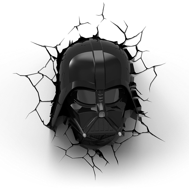 FX 50026 Lámpara decorativa 3D, diseño de Darth Vader deStar Wars, plástico, color negro/rojo [Clase de eficiencia energética A+] 3DLightFX.com