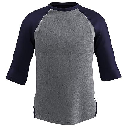 M f/ür Erwachsene Wei/ß Champro Baseball-T-Shirt Gr 3//4-/Ärmel Royal Sleeve