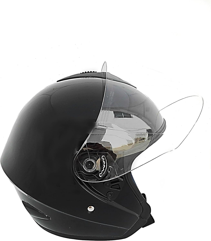 Jet Helmet Sprint Casque pour Moto Casque Moto Jet Visor Jet Open Casque Taille S Casque de Moto Ouvert Couleur Blanc