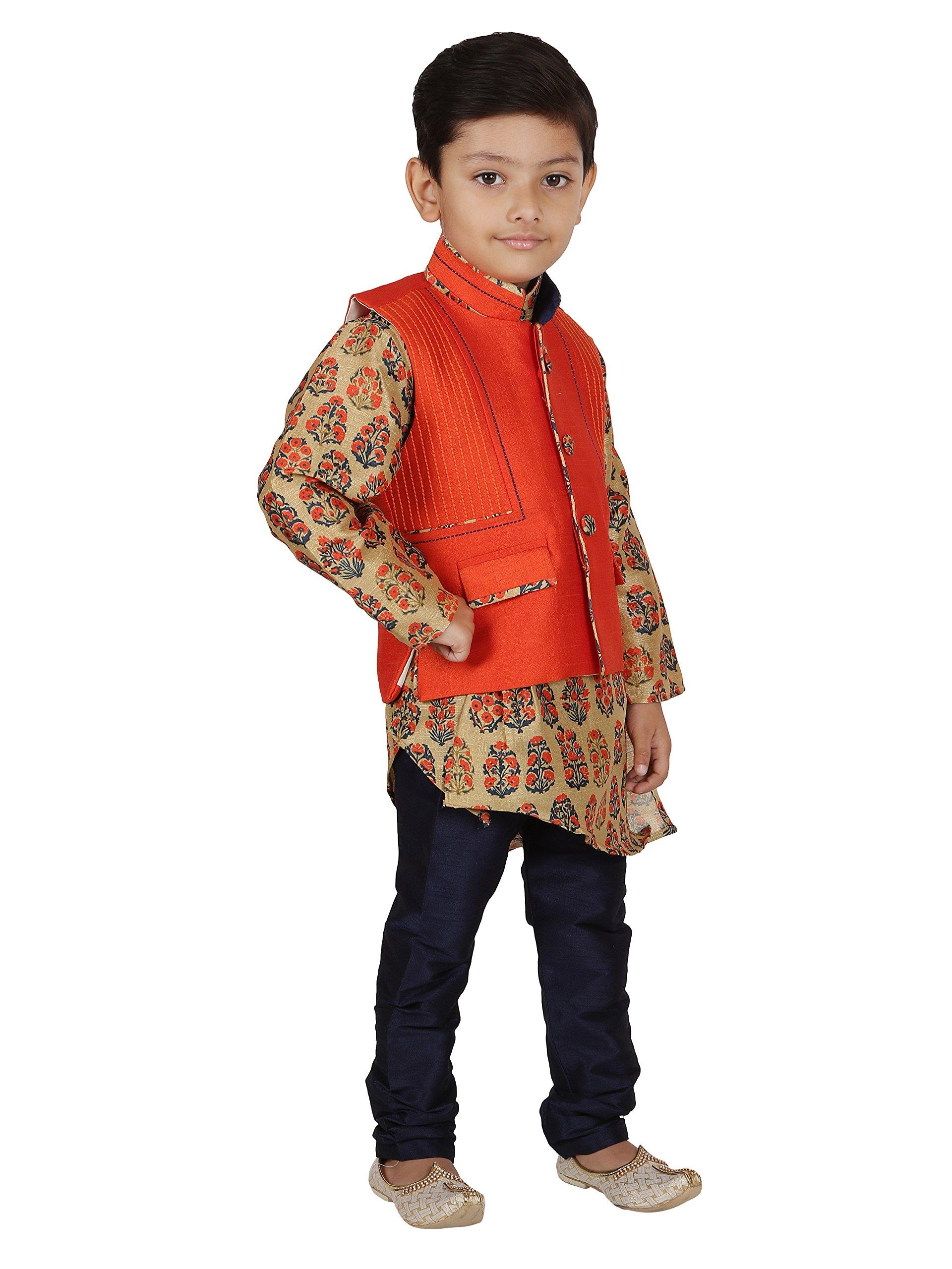 AJ Dezines Kids Indian Wear Bollywood Style Kurta Pyjama Waistcoat for Baby Boys by AJ Dezines (Image #4)