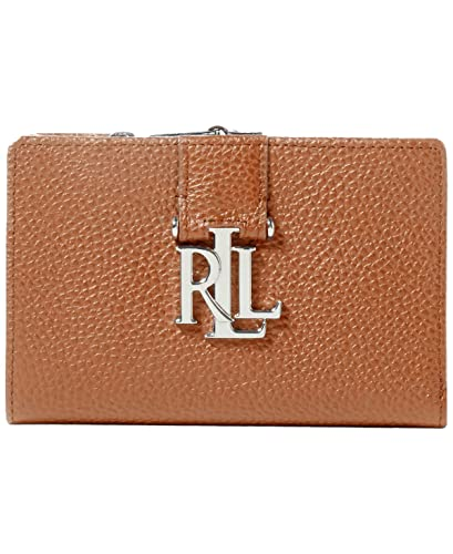 Lauren Ralph Lauren Women`s Pebbled Leather Compact Wallet (Field Brown e25a1afeb771f