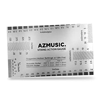 photo about String Action Gauge Printable known as AZMUSIC String Motion Gauge, Guitar Established Up Luthier Resource for Electric powered B and Acoustic Guitar