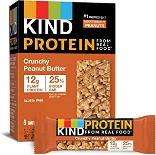 product image for KIND Protein Bars, Crunchy Peanut Butter, Gluten Free, 12g Protein,1.76 Ounce, 30 Count