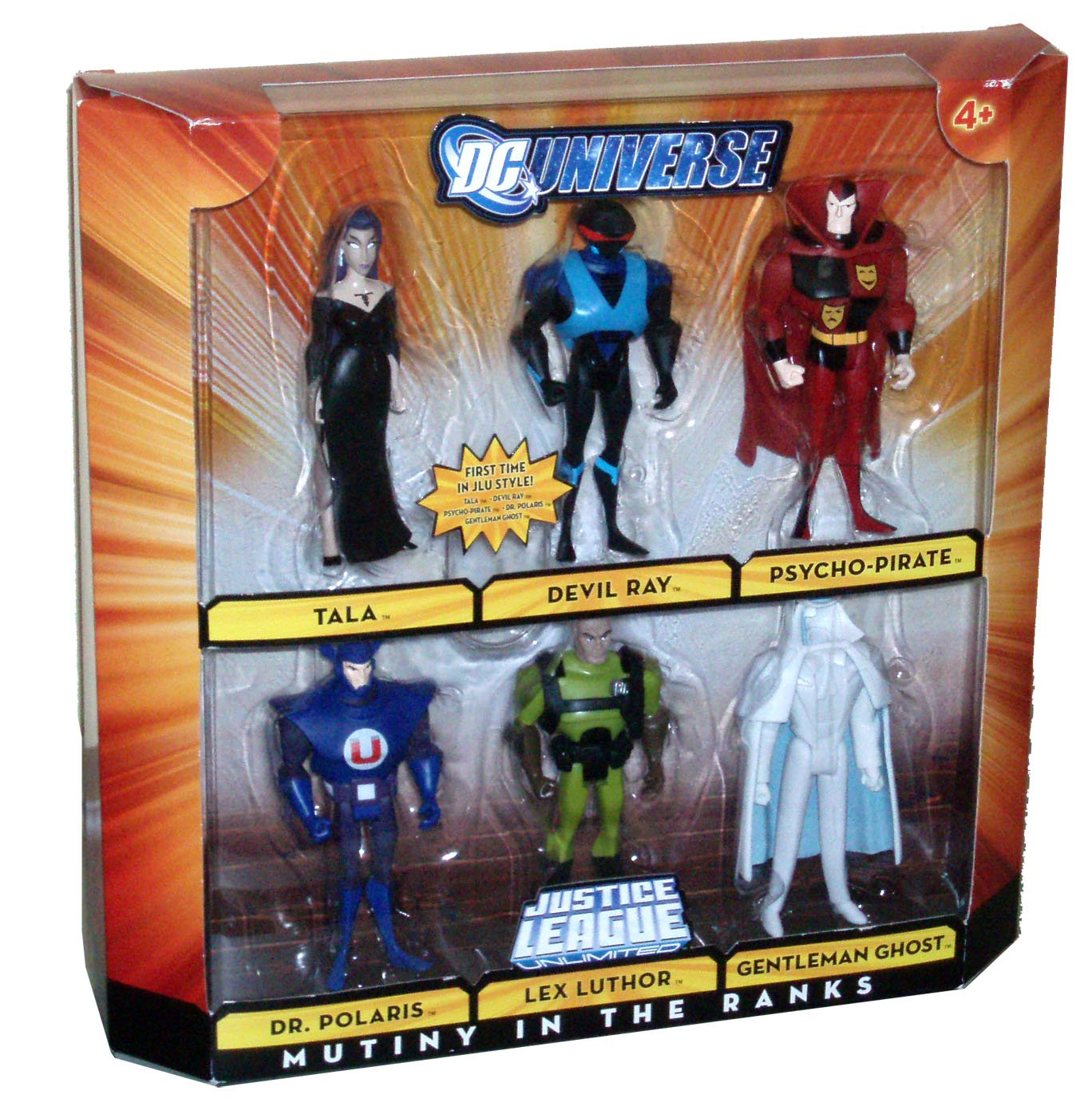 DC Universe Justice League Unlimited 6 Pack 4-1/2 Inch Tall Villain Action Figure - MUTINY IN THE RANKS with Tala, Devil Ray, Psycho-Pirate, Dr. Polaris, Lex Luthor and Gentleman Ghost