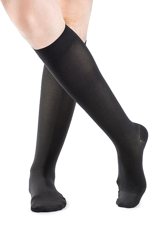 Sigvaris 842C Soft Opaque 20-30 mmHg Closed Toe Knee Highs Color: Black 99, Size: Medium Long (ML) by Sigvaris B004GLGG02
