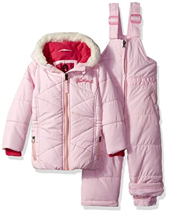 27636126b Amazon.com: Weatherproof Baby Girls 2 Piece Dewspo Snowsuit Set: Clothing