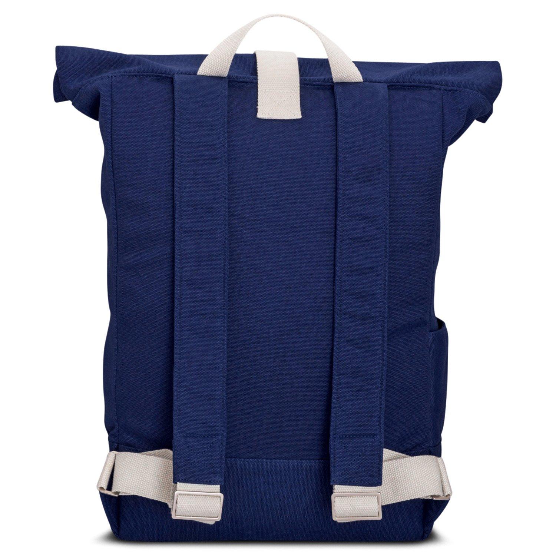 ddbe1b5e3ed4c Johnny Urban Rucksack Damen   Herren Blau Roll Top Daypack aus Baumwoll  Canvas - Lässiger Vintage Tagesrucksack für den Alltag - Wasserabweisend    sehr ...