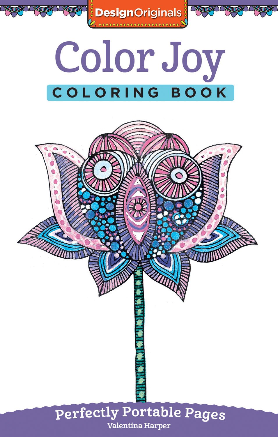 color joy coloring book perfectly portable pages on the go coloring book design originals extra thick high quality perforated paper convenient 5x8 size is perfect to take along wherever you go
