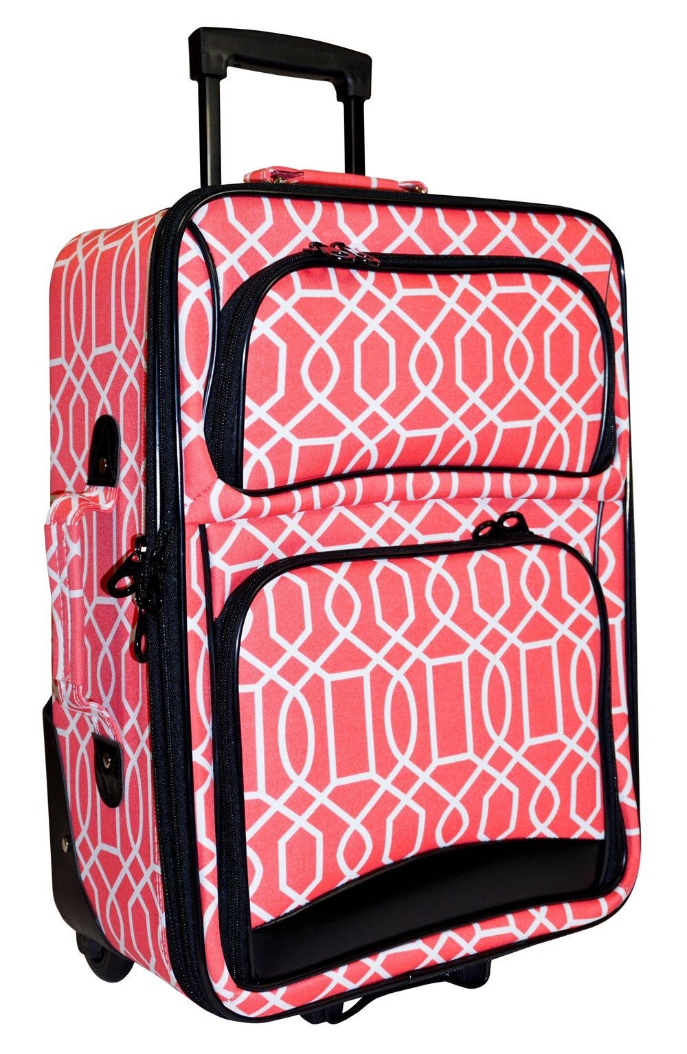 Ever Moda Geometric Carry On Luggage