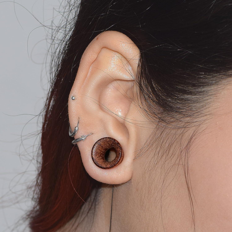 D&M Jewelry 2 Piezas 0g-3/4(8-20mm) Hueco Expansor de Tunel de Madera Pendientes de Oreja Piercing 20mm: Amazon.es: Joyería