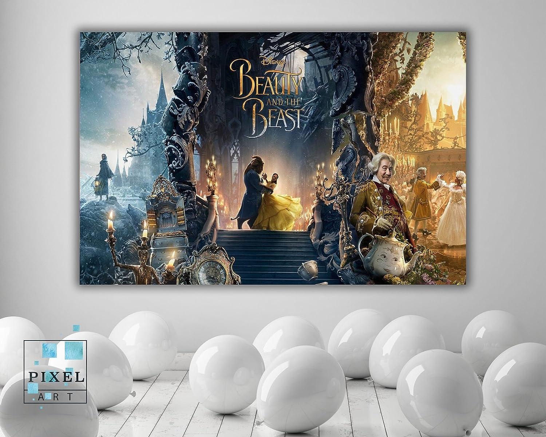 Amazoncom Beauty And The Beast Kids Movie Canvas Print